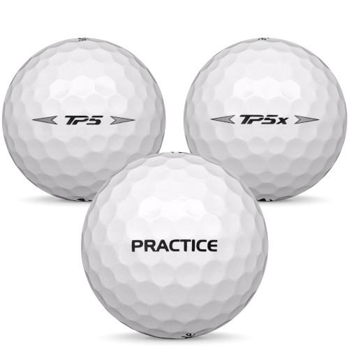 Golfboll av modellen TaylorMade Tour Practice i vit färg