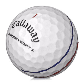 Golfboll av modellen Chrome Soft X Allign